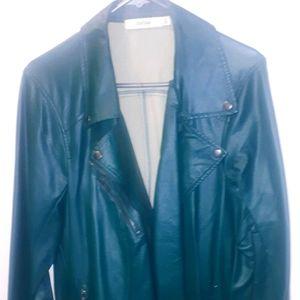 Green moto jacket 1x